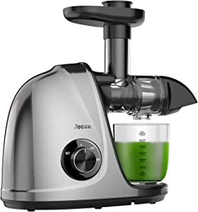 Juicer Machines, Jocuu Slow Masticating Juicer Extractor with 2-Speed Settings, Cold Press Juicer with Reverse Function & Quiet Motor, with Brush Easy to Clean & Recipes for Fruits and Vegtables