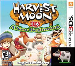 Harvest Moon a New Beginning 3DS with BONUS Mini Cow Figure