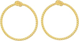 Sailor's Knot Door Knocker Hoops Earrings