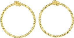 Kate Spade New York Sailor's Knot Door Knocker Hoops Earrings