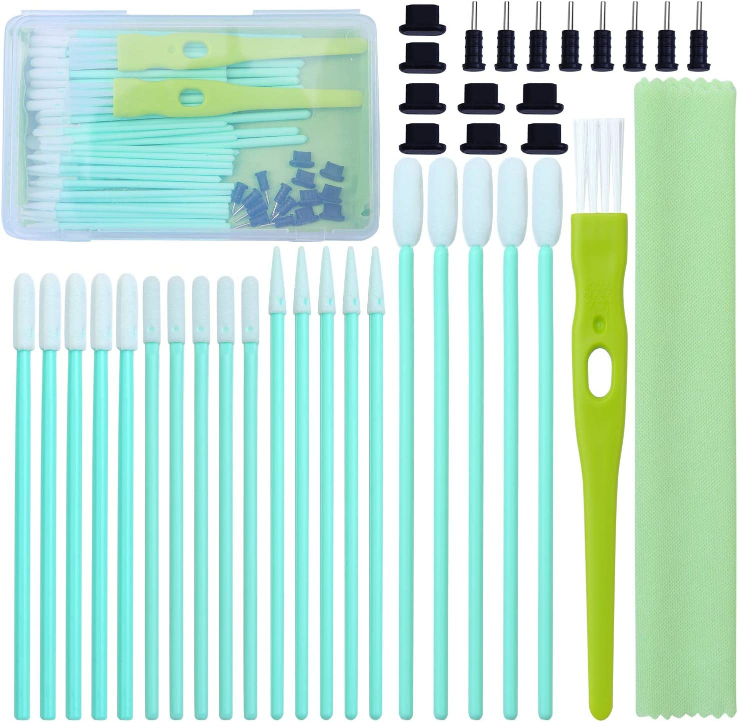 Ranking TOP14 Max 78% OFF ANECO 100 Pack Cell Phone S Kit Brush Cleaning Swab