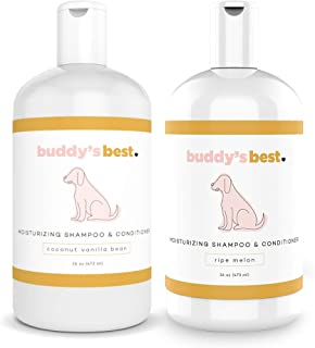 Buddy's Best, Natural Dog Shampoo and Conditioner in One - Hypoallergenic, Oatmeal Shampoo for Dogs with Sensitive Skin - Moisturizing Dog Wash