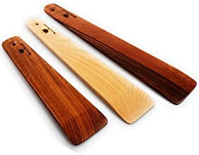 Wooden Spatula Set 3 Thin and Different Sizes Wood Cooking Spatulas - Handmade Wood Kitchen Spurtles Utensils Set Multipur...