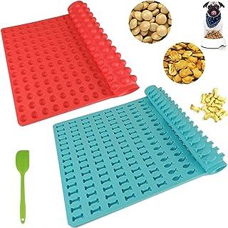 CCDSR - Moule pour friandises pour chien - 1,5 cm - Tapis de cuisson en silicone + tapis de cuisson en forme d'os bleu - P...
