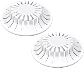 DANCO Universal Bathroom Sink Suction Cup Hair Catcher Strainer, White, 2-Pack (10769)