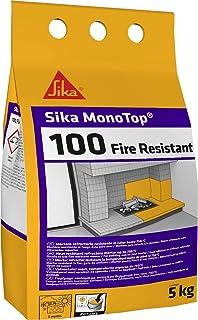 Sika 520796 Mortero refractario, Monotop-100 Fire Resistant, Gris, 5 Kg