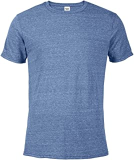 Casual Garb Men's Snow Heather Fitted T Shirt Short Sleeve Crew Neck T-Shirts for Men