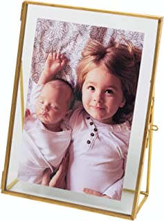 Levilan 5x7 Gold Photo Frame Vintage Style Antique Gold Standing Picture Frames with Pressed Glass, Brass (5 x 7)