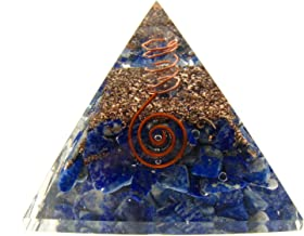 Ouplence Reiki Charged Natural Raw Lapis Lazuli Chakra Healing Orgone Pyramid for-Wisdom, Honesty, self-Awareness, Dignity, Inner Truth-EMF Protection