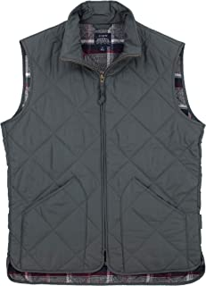 J. Crew Men's Quilted Outerwear Vest, Flannel or Twill Lined Options and Colors
