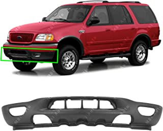 MBI AUTO - Textured, Black Front Bumper Valance for 1999-2002 Ford F150 & Expedition W/Tow & Fog Holes 99-02, FO1095181