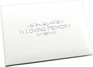 Esposti In Loving Memory Condolence Book - Funeral Guest book - Open Format Inner Pages - White - 8.9 x 6.7 x 1.2 inches