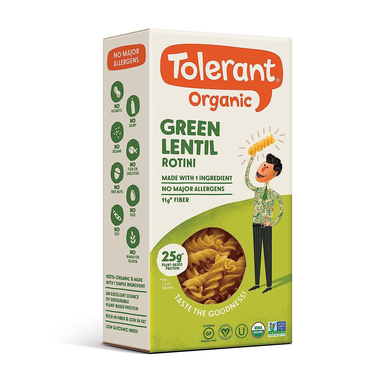 TOLERANT FOODS Organic Simply Legumes Pasta Lentil Same day shipping Green Rotini Alternative dealer