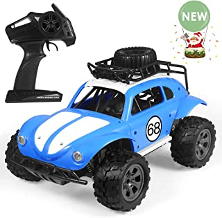 Remote Control Car, 2019 Upgraded Terrain RC Cars, 1: 18 Scale 2.4Ghz 2WD Powerful Electric Remote Control Off Road Monster Truck for All Adults & Kids Gift (Blue)