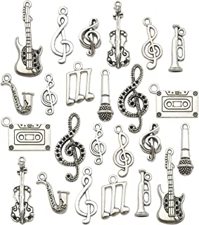 Music Charm Collection-100g Craft Supplies Instrument Music Notes Charms Pendants for Crafting, Jewelry Findings Making Accessory For DIY Necklace Bracelet Earrings