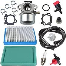 Panari Carburetor + Tune Up Kit Air Filter Spark Plug for Briggs and Stratton 799868 498170 497586 497314 698444 498254 497347 497410 496115