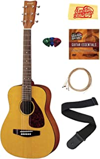Yamaha JR1 1/2-Scale Mini Acoustic Guitar Bundle with Strings, Picks, Austin Bazaar Instructional DVD, and Polishing Cloth