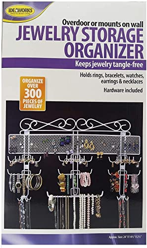 """popular Jobar online sale Organizing Jewelry Valet coated wire (White) (14.5""""H x 2021 23.75""""W x 2.375""""D) outlet online sale"""