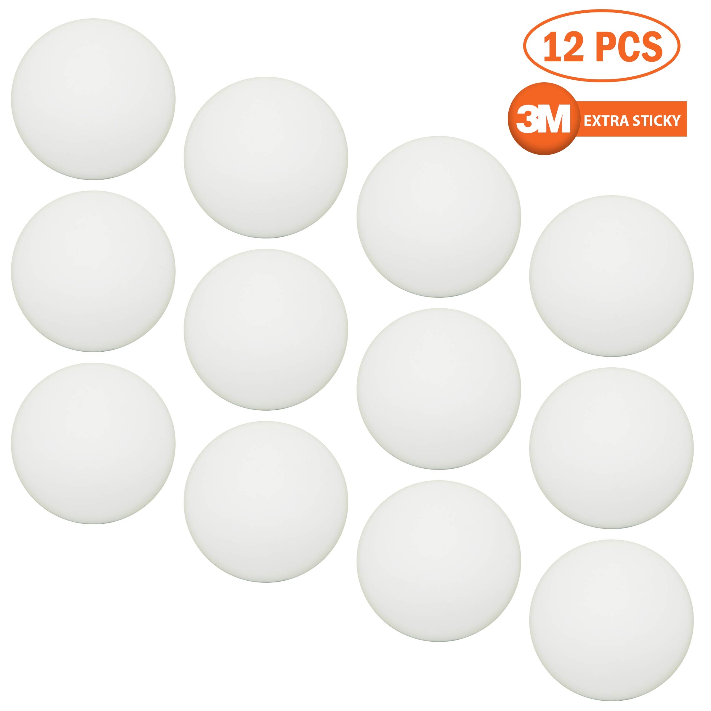 12 Pack Door Bumper for Protecting Wall 3M Self-Adhesive Sticker Silicone Wall Guard Doorknob Wall Shield Door Stopper Wall