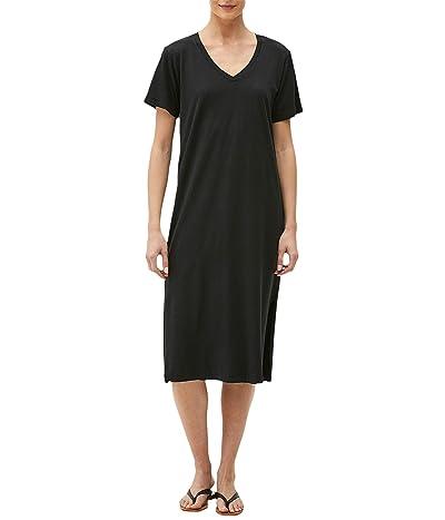 Michael Stars Sandra Cotton Modal Short Sleeve V-Neck Midi Dress
