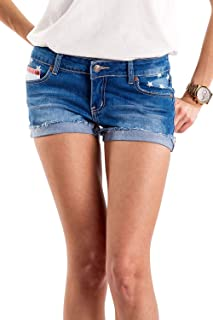 Tipsy Elves Women's Patriotic Red White and Blue Summer Beach Denim Jean Shorts