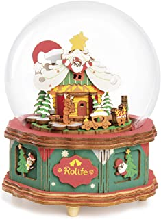 Rolife Miniature Dollhouse DIY Kits, Christmas for Kids, 1/24 Scale Tiny House Building Kit, Mini Doll House with Accessor...