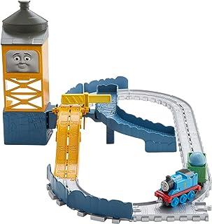 Thomas & Friends FJP82 蓝色山地四分之一玩具套装,Thomas the Tank Engine 玩具火车套装冒险,玩具火车,3 岁