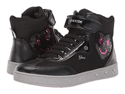 Geox Kids Jr Skylin 3 (Big Kid) (Black/Pink) Girls Shoes