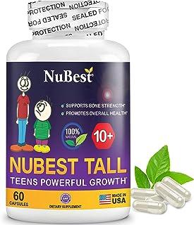 Maximum Natural Height Growth Formula - NuBest Tall 10+ - Herbal Peak Height Pills - Grow Taller Supplements - 60 Capsules...