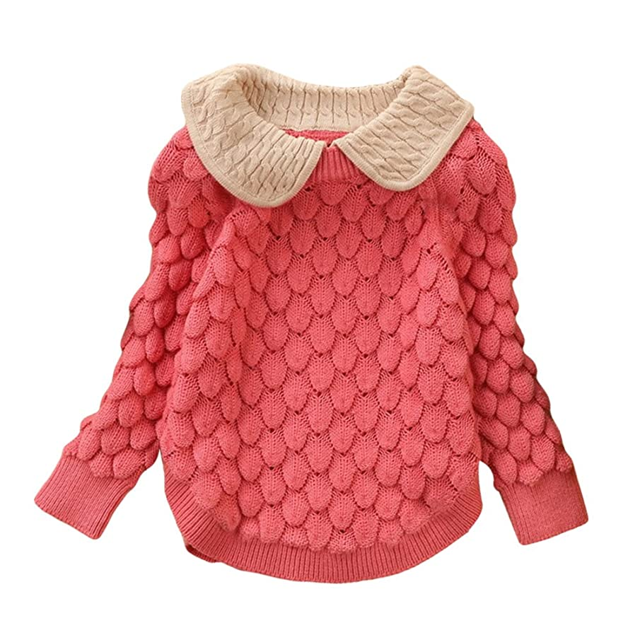 Toddler Baby Girl Cable Knit Sweater Lovely Kid Pullover Sweatshirt