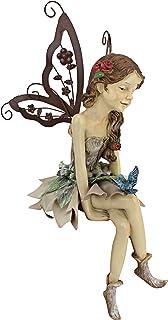 Design Toscano HF326063 Fannie, The Fairy Sitting Statue