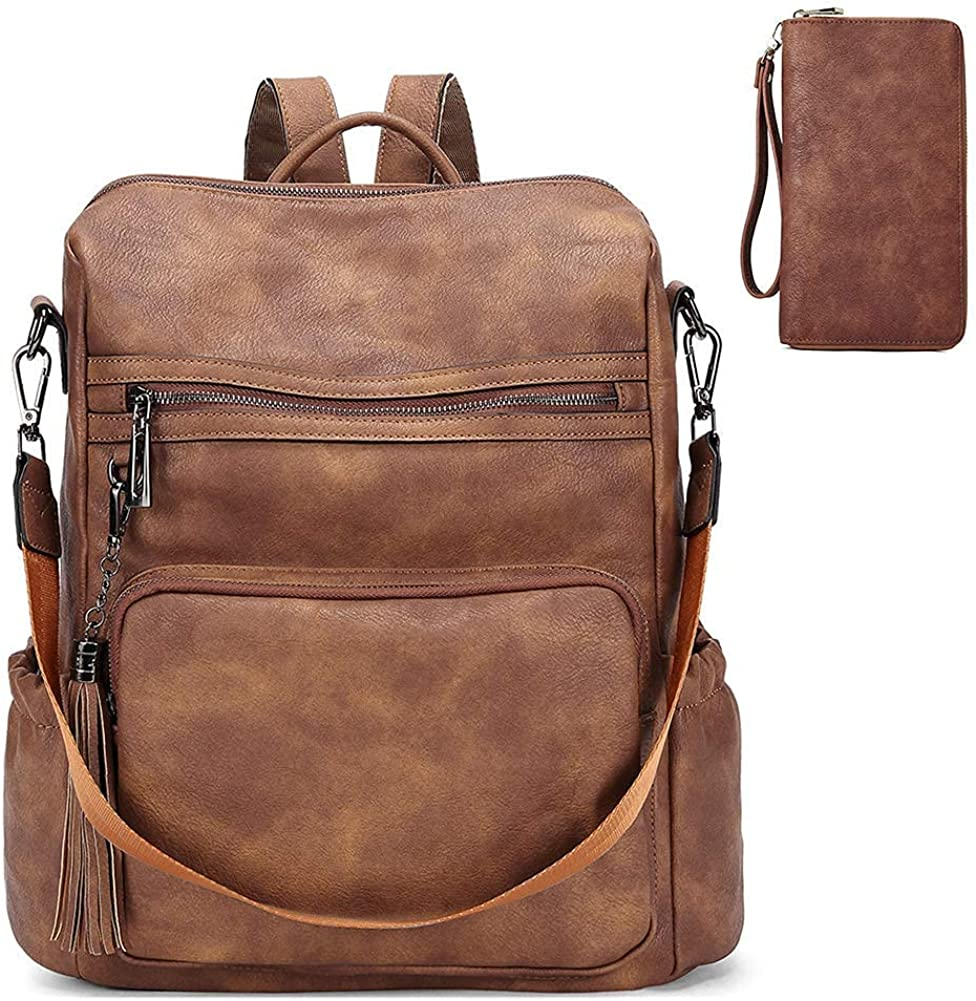 CLUCI Backpack Purse for Women High material Fashion Travel Ladi Large Leather Award
