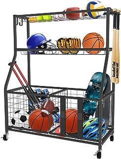 قفسه ذخیره سازی تجهیزات ورزشی Uboway: سازمان بسکتبال گاراژ برای سبد خرید در فضای باز (ارتقا)