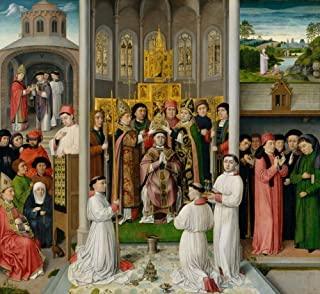 Posterazzi Poster Print Collection Scenes from Life of St. Augustine of Hippo Fine Art (24 x 18)