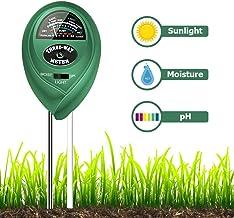 Veroyi Soil pH Meter, ST01 3-in-1 Soil Moisture/Light/pH Tester Gardening Tool Kits for..