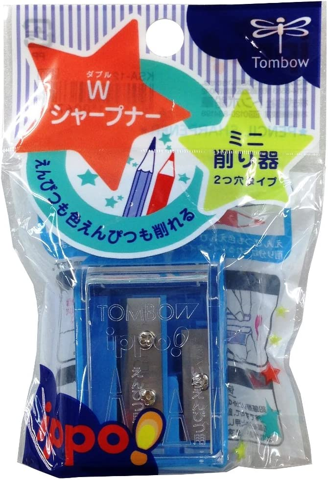 Tombow Ippo Pencil Sharpener 2 1-P High quality All items free shipping Blade Size Colors Assorted