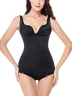 Women's Body Shaper Lace Firm Control Under Bust Slimmer Waist Trainer Bodysuit Shapewear