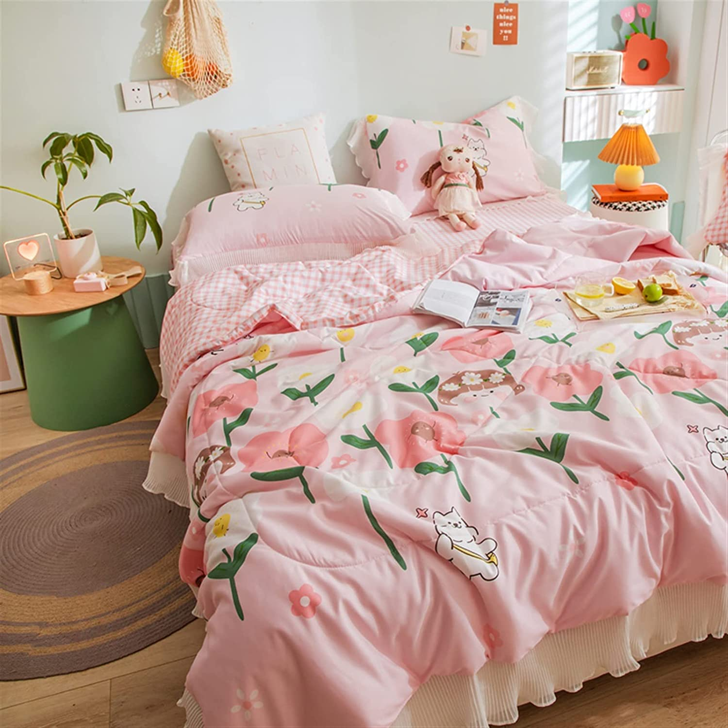 VINVITO Cloud Lace Freshness Max 84% OFF Quilt New Sheet Low price Set Pi Summer Duvet