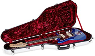 Crossrock Fiberglass Case for Telecaster and Stratocaster Style in White Electric Guitar (CRF1000GSTWT)