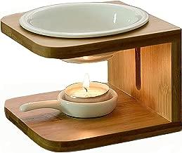 Singeek 100ML Ceramic Tea Light Holder,Essential Oil Burner Candle Aroma Diffuser for Spa..