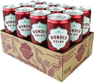 Wonder Drink Prebiotic Kombucha, Apple Mint, 12 Count