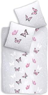 Juego de ropa de cama de 2 piezas. - Funda de almohada de 80 x 80 + funda nórdica de 135 x 200 cm · Ropa de cama para niña · Fly Sweet Butterfly – 100% algodón.
