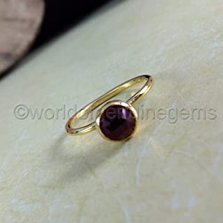 890994eac garnet woman ring, 925 sterling silver, yellow gold women's ring, garnet  woman engagement