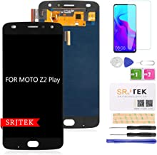 for Moto Z2 Play Screen Replacement-SRJTEK Parts for Motorola Z2 Play LCD Replacement, XT1710-01 XT1710-02 XT1710-06 XT1710-07 Touch Screen Digitizer Glass Display Assembly Repair kit(Black)