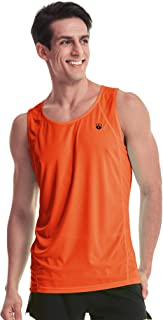 Leevy Running Singlet for Men Ultra Lightweight Marathon Tank Top Dry Fit Sleeveless Workout Shirt