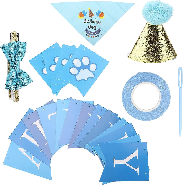 GLOGLOW Clearance SALE! Limited time! Dog Award Birthday Party Hat Bo Supplies Bandana