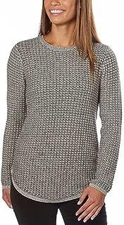 Ladies' Crewneck Sweater, Grey Combo. Size: Small.