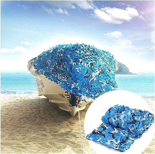 Filet de Camouflage 4mx3m, Filet de Renforcement Filet de Prougeection Solaire pour Jardin Filet Ombrage Auvents Bleu, pour Masquage de Tente de Pêche de Décoration de Jardin Balcon Confidentialité