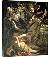 Global Gallery Budget Caravaggio Conversion of St. Paul Gallery Wrap Giclee on Canvas Wall Art Print