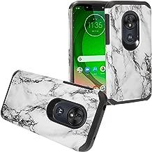 Z-GEN - for T-Mobile REVVLRY, Motorola Moto G7 Play, G7 Optimo XT1952/DL - Hybrid Image Phone Case - AD1 White Marble